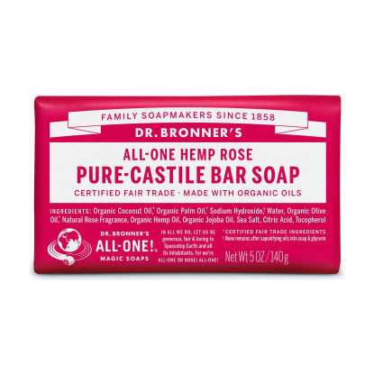 Picture of Dr BRONNER ROSE SOAP BAR 140G