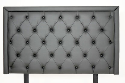 Picture of Kate Headboard (152cm) Studded Grey