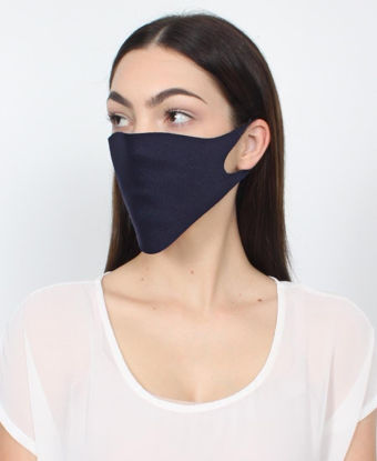 Picture of 3 Pack Single Ply Reusable Face Mask - Navy