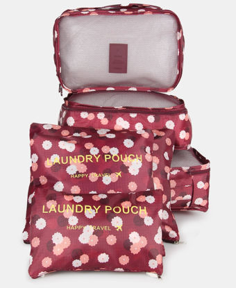 Picture of 6 Piece Travel Bag Organiser - Burgundy