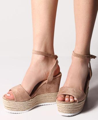 Picture of Espadrille Wedge Sandals - Beige