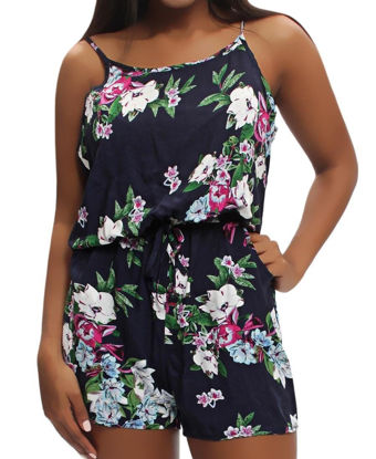Picture of Floral Jumpsuit - Navy