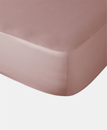 Picture of Horrockses 180 Thread Count Fitted Sheet - Dusty Pink