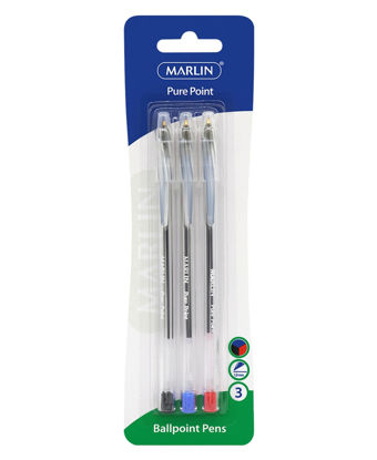 Picture of Marlin 3 Pack Ball Point Pens - Multi