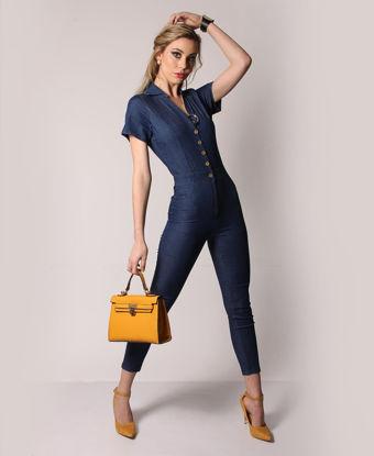 Picture of Denim Jumpsuit - Blue