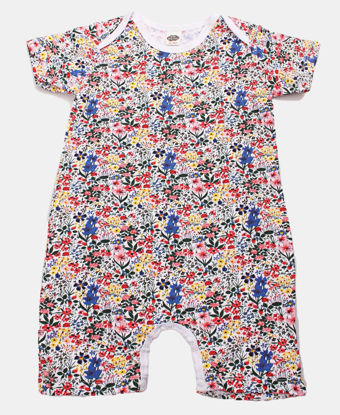 Picture of Infants Ditsy Print Short Sleeve Rompers - Multi