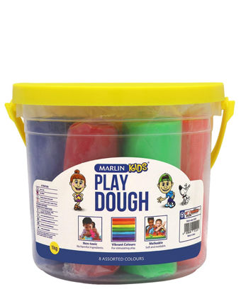 Picture of Marlin 1kg Assorted Colours Play Dough Bucket - Multi