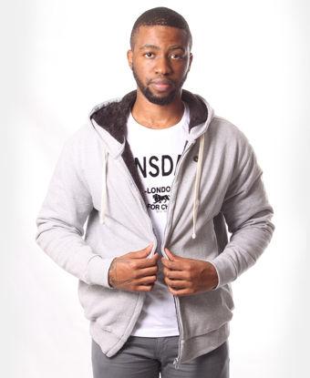 Picture of Men's Zip Up Hoody - Grey