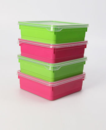 Picture of Set Of 4 700ml Candy Box  - Multi