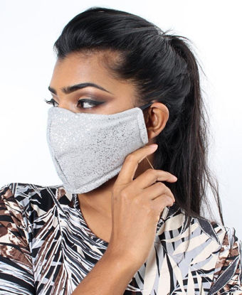 Picture of Shimmer3 Ply Cloth Face Mask  - Silver