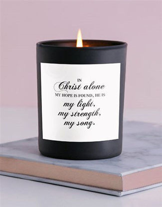 Picture of Christ is my light Candle