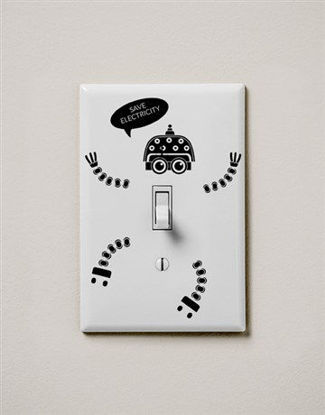Picture of Save Electricity Switch Wall Vinyl