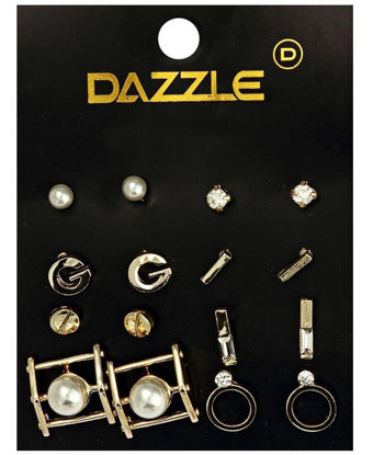 Picture of 8 Pack Earrings  - Gold
