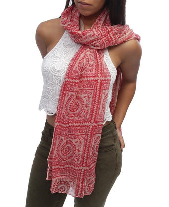 Picture of Aboriginal Scarf - Red