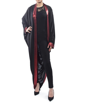 Picture of Black Throw - Red