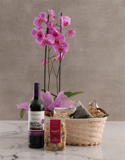 Picture of Wine Not Orchid Hamper