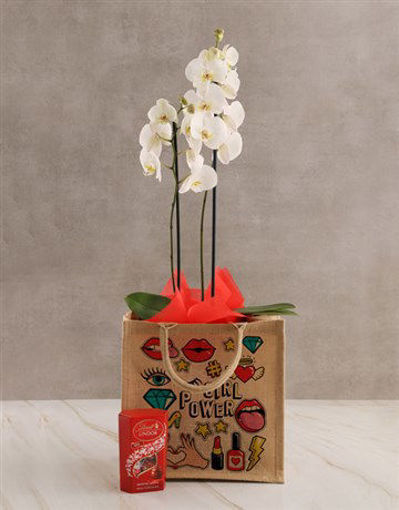 Picture of Girl Power Orchid Tote Hamper